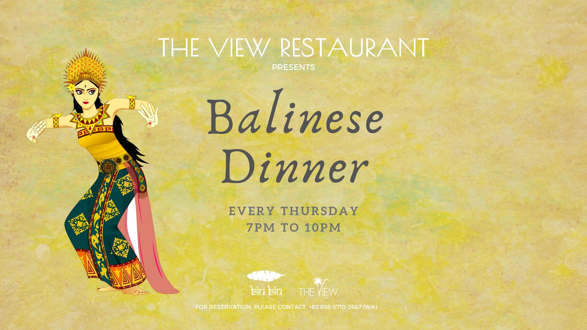 Balinese Dinner